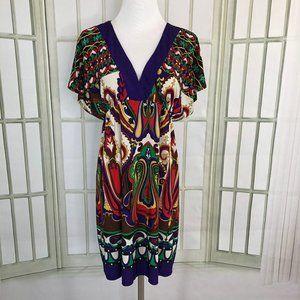 City Triangles Women's Boho Empire Dress Slinky